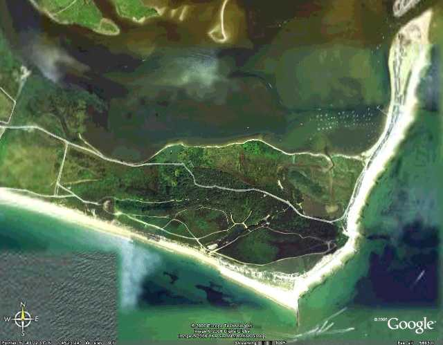 Hengistbury Head from Google Earth