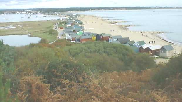 A Northern view from Hengistbury Head down Mudeford Sandspit